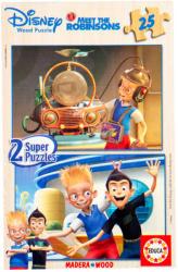 Educa Disney A Robinson család 2x25 db-os fa puzzle