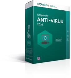 Kaspersky Anti-Virus 2016 Renewal (2 User, 1 Year) KL1167OBBFR
