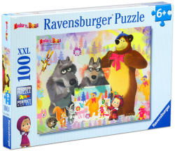 Ravensburger XXL Puzzle - Mása és a medve - Masha and the Bear 100 db-os (105908)