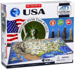 4D Cityscape 4D City Puzzle - USA
