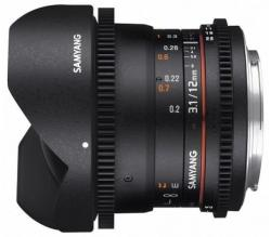 Samyang 12mm T3.1  VDSLR ED AS NCS Fish-eye (Nikon)