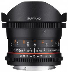 Samyang 12mm T3.1  VDSLR ED AS NCS Fish-eye (Pentax)