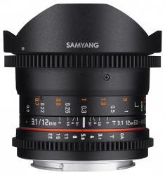 Samyang 12mm T3.1  VDSLR ED AS NCS Fish-eye (Pentax)