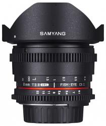 Samyang 8mm T3.8  VDSLR UMC Fish-eye CS II (Fuji)