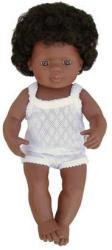 Miniland Bebe Afroamerican - Fetita cu lenjerie 40cm (311605)