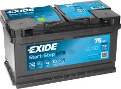 Exide ECM EL752 75Ah 730A Jobb+ (EL752)