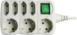 EMOS 3 Plug + 4 Euro Plug 1,5m Switch (PS1721)