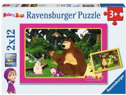 Ravensburger Mása és a medve - Masha and the Bear 2x12 db-os (075850)