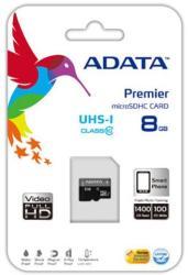 ADATA MicroSDHC 8GB Class 10 AUSDH8GCL10-RA1