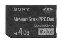 Sony MemoryStick PRO Duo Mark2 4GB PSP MSMT4GN-PSP