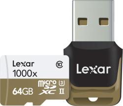 Lexar MicroSDXC 64GB Class 10 UHS-II LSDMI64GCBEU1000R