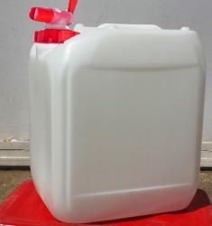 Műanyag kanna 20 l-es nagyszájú csapos kupakkal