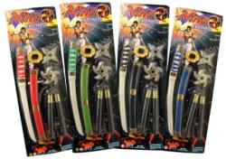 UNIKATOY Ninja fegyver szett 4-féle 910330
