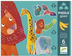 DJECO Óriás Puzzle - Elvis és barátai 6 az 1-ben