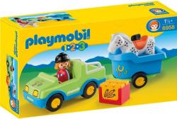 Playmobil Játékfigura lószállítóval (6958)