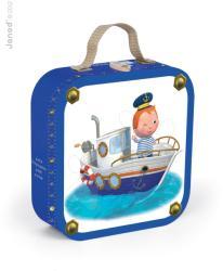 Janod 4 az 1-ben puzzle bőröndben - Leo hajója (02887)