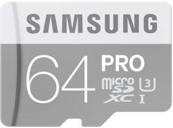 Samsung PRO microSDXC 64GB Class 10 U3 MB-MG64EA/EU