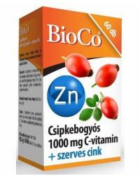 BioCo Csipkebogyós 1000mg C-vitamin+Szerves Cink tabletta - 60 db