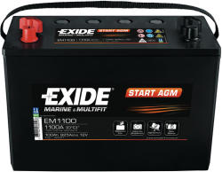 Exide Start AGM 100Ah EN 925A borna inversa EM1100