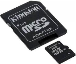 Kingston MicroSDHC 8GB Class 10 SDC10G2/8GB