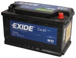 Exide Excell 80Ah EN 640A EB800
