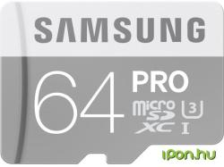 Samsung PRO microSDXC 64GB Class 10 U3 MB-MG64E/EU