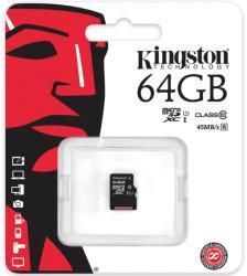 Kingston MicroSDXC 64GB Class 10 SDC10G2/64GBSP