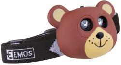 EMOS 2 LED-es gyerek fejlámpa - Medve (EMOS-P3525)