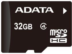 ADATA MicroSDHC 32GB Class 4 + Reader AUSDH32GCL4-ROTGMBK