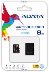 ADATA MicroSDHC 8GB Class 4 + Reader V3 AUSDH8GCL4-RM3BKBL