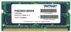 Patriot 8GB DDR3 1600MHz PSD38G16002S