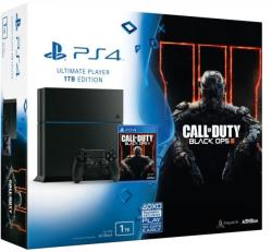 Sony PlayStation 4 Jet Black 1TB (PS4 1TB) + Call of Duty Black Ops III