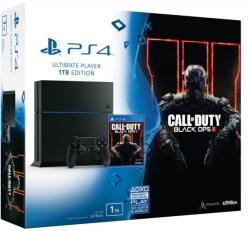 Sony PlayStation 4 Jet Black 1TB (PS4 1TB) + Call of Duty Black Ops III