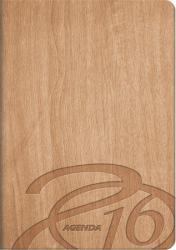 Absolut Naptár Wood zsebnaptár, álló elrendezésű, barna (NAZSAWBA)
