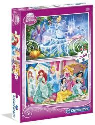 Clementoni Disney Hercegnők 2x60 db-os (07115)