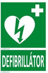 Defibrillatorok. hu - Magyarország Defibrillátor jelző műanyag tábla Defibrillátor felirattal - defibrillatorok - 1 800 Ft