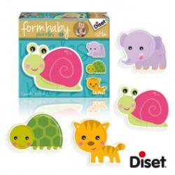 Diset Form Baby Puzzle - Csigás (DS69951)