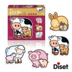Diset Form Puzzle - Farm állat kölykök (DS69954)