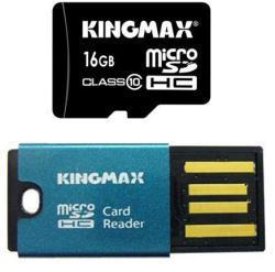 KINGMAX MicroSDHC 16GB Class 10 + Reader KM16GMCSDHC10CR