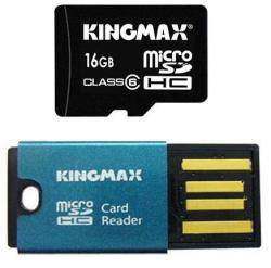 KINGMAX MicroSDHC 16GB Class 6 + Reader KM16GMCSDHC6CR