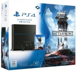 Sony Playstation 4 Jet Black 1TB (PS4 1TB) + Star Wars Battlefront