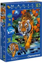 Clementoni Magic 3D puzzle szemüveggel - Tigris 1000 db-os (39185)