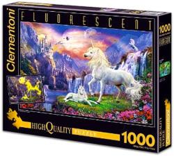 Clementoni Fluoreszkáló puzzle - Unikornis 1000 db-os (39285)