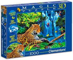 Clementoni Magic 3D puzzle szemüveggel - Jaguár 1000 db-os (39284)