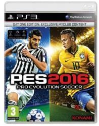 Konami PES 2016 Pro Evolution Soccer [Day One Edition] (PS3)