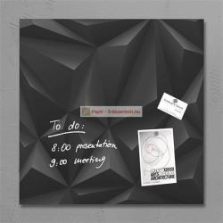Sigel Artverum mágneses üvegtábla, fekete gyémánt mintázat 48x48 cm (SDGL257)