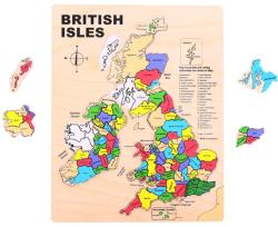 Bigjigs Toys Brit szigetek fa puzzle