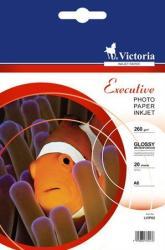 """VICTORIA Fotópapír, tintasugaras, 10x15 cm, 260 g, magasfényű, VICTORIA """"Executive"""" (LVIP02)"""