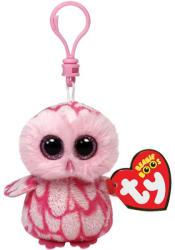 TY Inc Beanie Boos Clip - Pinky, a rózsaszín gyöngybagoly 8,5cm (TY36594)