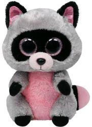 TY Inc Beanie Boos - Rocco, a szürke-rózsaszín mosómedve 24cm (TY34107)